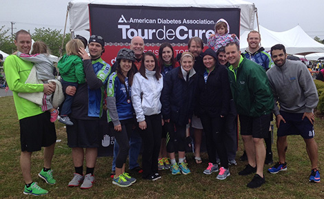 Pat Shuler and team at the American Diabetes Association Tour de Cure