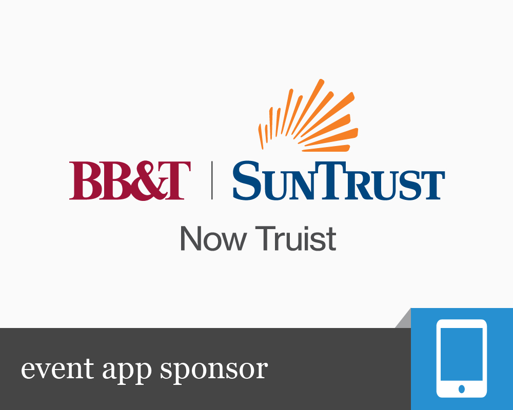 Event App Sponsor: BB&T and Suntrust - now Truist