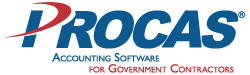 PROCAS logo - accounting software for government contractors